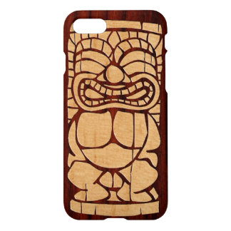 Koa Wood Tiki Ailani Surfboard iPhone 8/7 Case