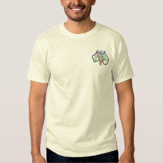 Koala and Australia Outline Embroidered T-Shirt