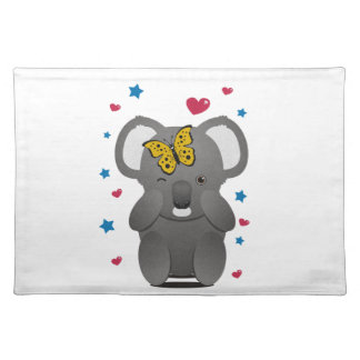 Koala And Butterfly Placemat