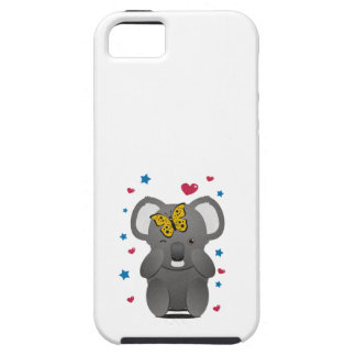 Koala And Butterfly Tough iPhone 5 Case