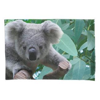 Koala and Eucalyptus Pillowcase