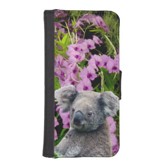Koala and Orchids iPhone 5S Wallet Case Phone Wallets