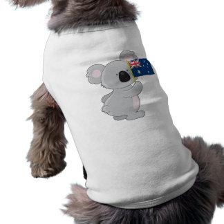Koala Australian Flag Sleeveless Dog Shirt