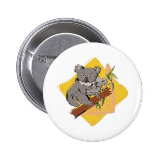 Koala Bear 6 Cm Round Badge