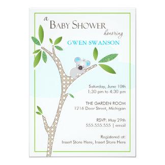 Koala Bear - Boy Baby Shower Invitations