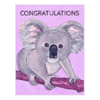 Koala Bear Congratulations Postcard