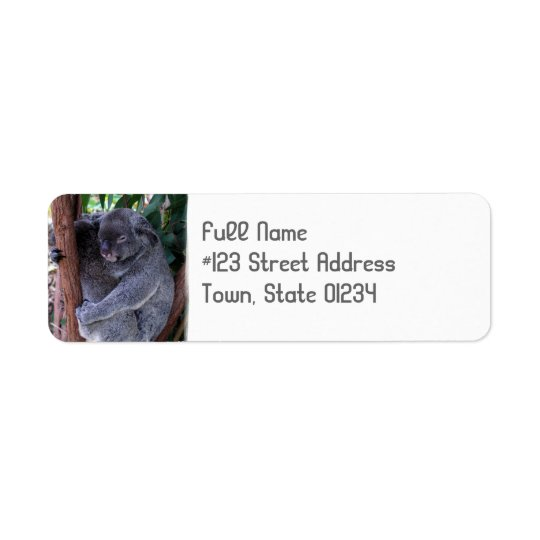Koala Bear Cuddle Return Address Label