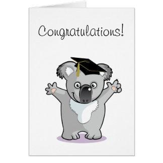 Koala Bear Graduate Greeting Card