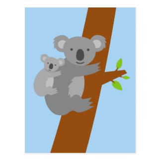 Koala bear illustration postcards