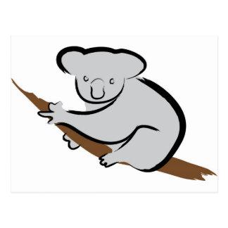 Koala bear in tree postcard