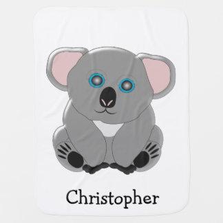 Koala Bear Just Add Name Baby Blanket