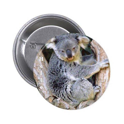 Koala Bear Love_ Pinback Buttons