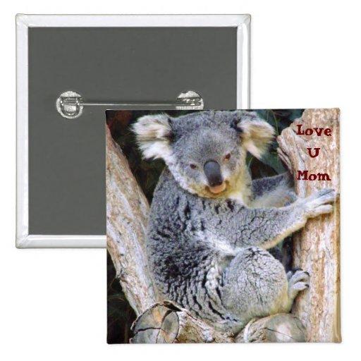 Koala Bear Love_ Button