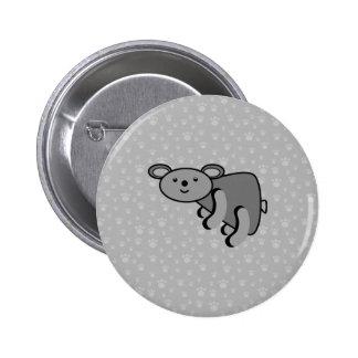 Koala bear on paws background 6 cm round badge