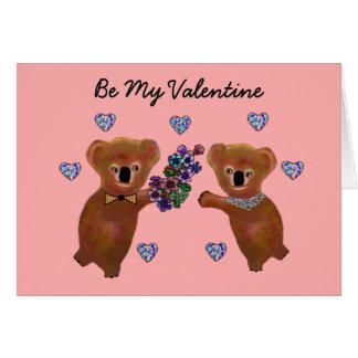 Koala Bear Valentine Card