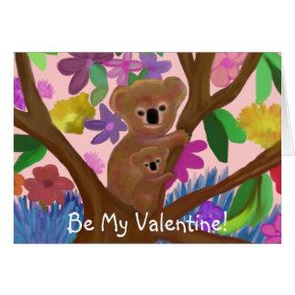 Koala Bears Valentine Card