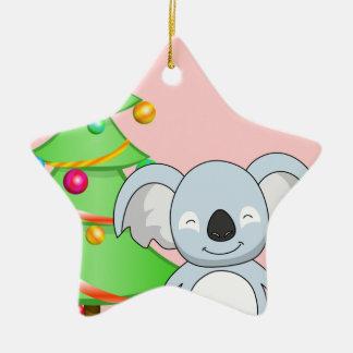 Koala Christmas Ceramic Ornament