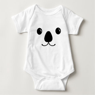 Koala Cute Animal Face Design Baby Bodysuit