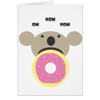 Koala Donut Diet Card