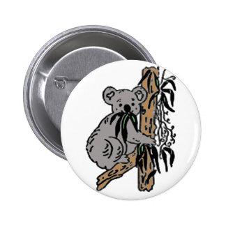 Koala Eating 6 Cm Round Badge