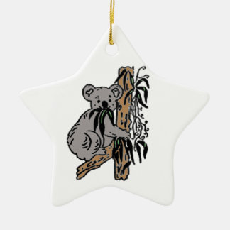 Koala Eating Ceramic Ornament