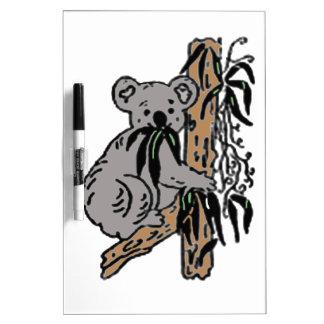 Koala Eating Dry Erase Board