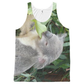 Koala Eating Gum Leaf All-Over Print Singlet