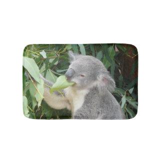 Koala Eating Gum Leaf Bath Mat