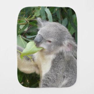 Koala Eating Gum Leaf Burp Cloth