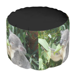 Koala Eating Gum Leaf Pouf