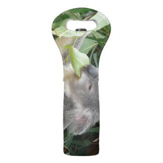 Koala Eating Gum Leaf Wine Bag