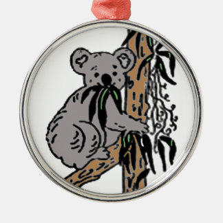Koala Eating Metal Ornament