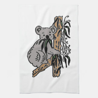 Koala Eating Tea Towel