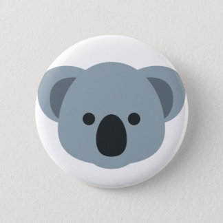 Koala emoji 6 cm round badge