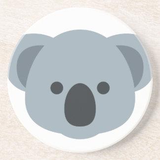 Koala emoji beverage coasters