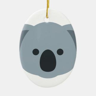 Koala emoji ceramic ornament