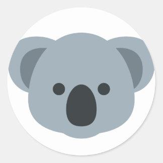 Koala emoji classic round sticker