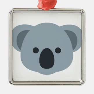 Koala emoji metal ornament