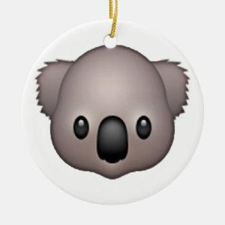 Koala - Emoji Round Ceramic Decoration