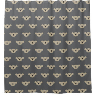 Koala Face Print Shower Curtain