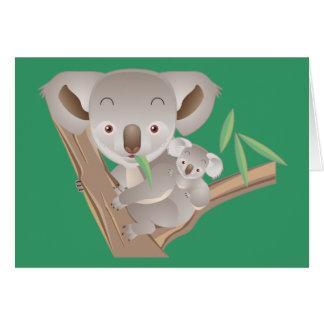 Koala Family Card