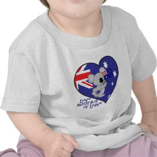 Koala Flag - Love Australia or Leave Tees