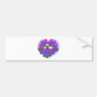 koala flying formation team  ( heart ) bumper sticker