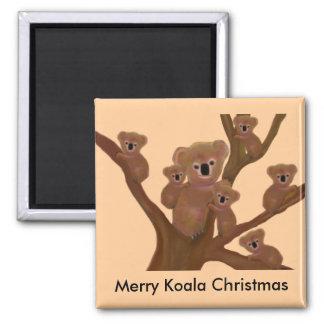 Koala Fun Christmas Fridge Magnets