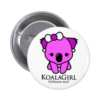 Koala Girl 6 Cm Round Badge