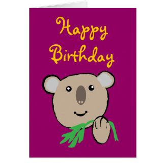 koala, HappyBirthday Card