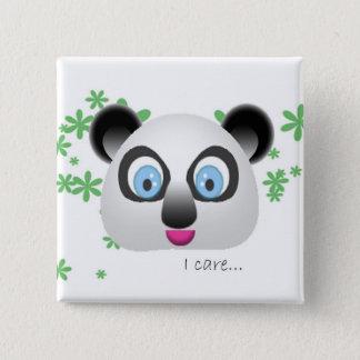 Koala, i care 15 cm square badge