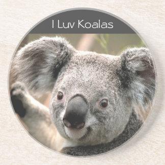 Koala, I Luv Koalas Beverage Coaster