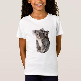 Koala image for Girls-T-Shirt-White T-Shirt