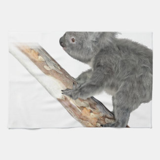 Koala In Profile Climbing Tea Towel